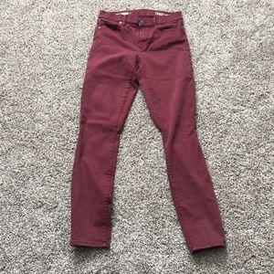 Gap maroon skinny jeans size27